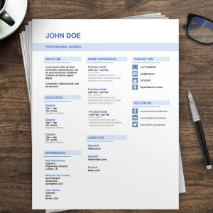 Professional Resume Template Australia | Free Resume Examples