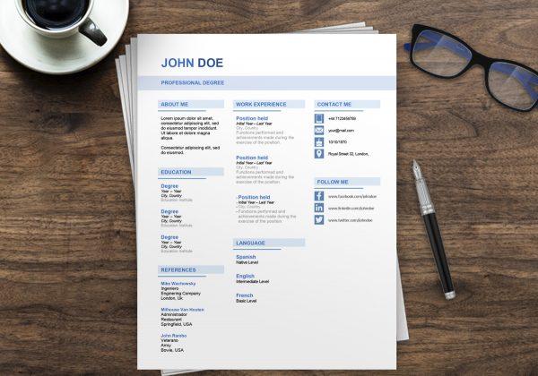 Professional Resume Template Australia   Free Resume Examples