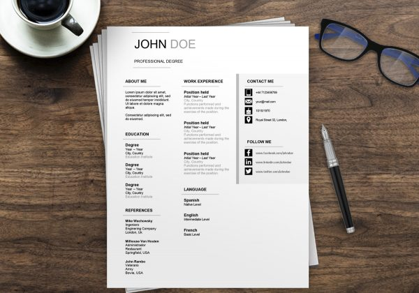 Australian Resume Format | Free Resume Examples