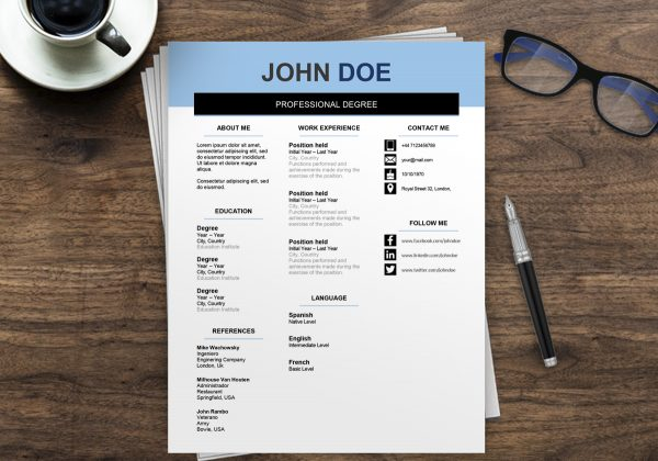 Resume Format Australia | Resume Template Australia