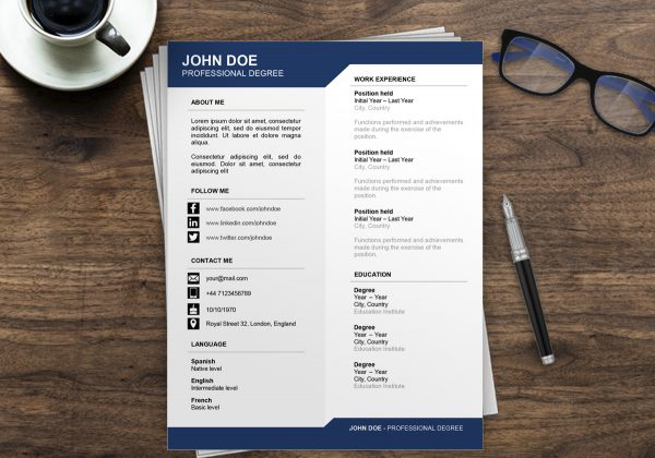 Resume Template Australia | Free Resume Examples