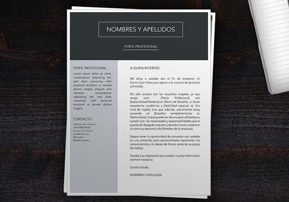 carta de presentación ejemplo | ejemplo de cover letter